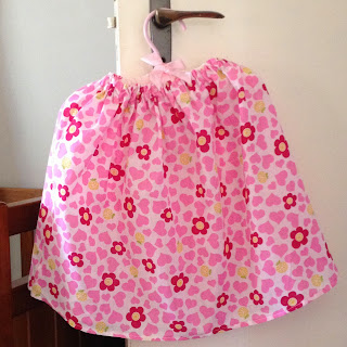 floral toddler skirt