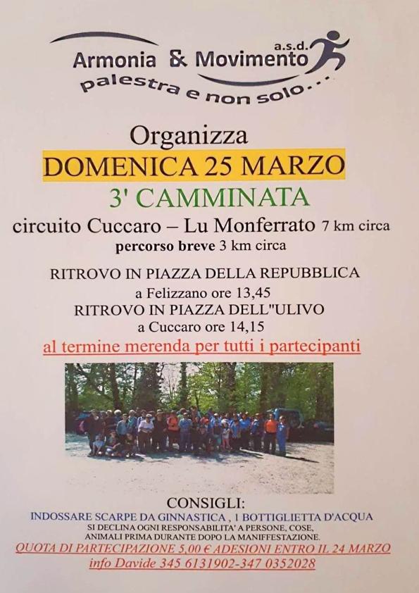 Cuccaro Monferrato 25 marzo