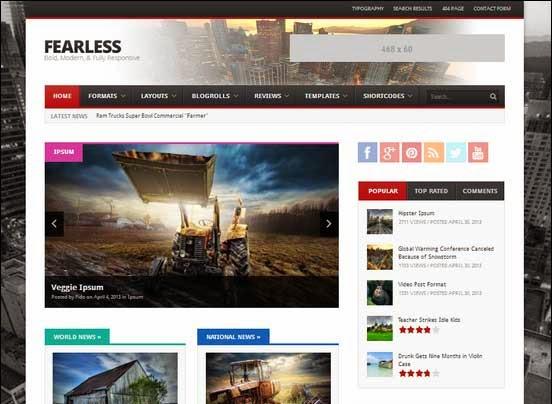 Fearless: Bold, Modern, & Responsive Magazine