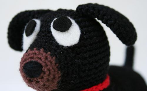 Muso cane bassotto amigurumi
