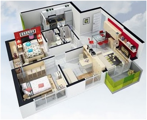 3D HOME PLANS FOR FREE - SMALL HOUSE AND APARTMENT PLANS : HOME PLANS