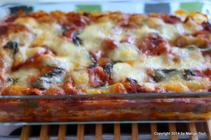 Sommer pur - Gemüselasagne mit Ricotta und Pesto