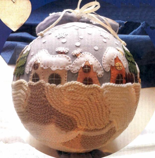 Вязаный шар. Елочная игрушка. Crochet ball