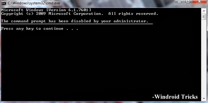 How to Disable/Enable Command Prompt (CMD)