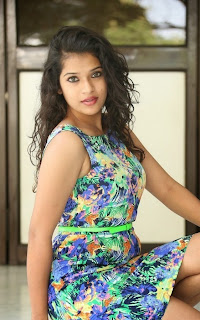 Actress Bhargavi Pictures in Floral Short Dress at Life After Movie Press Meet 34