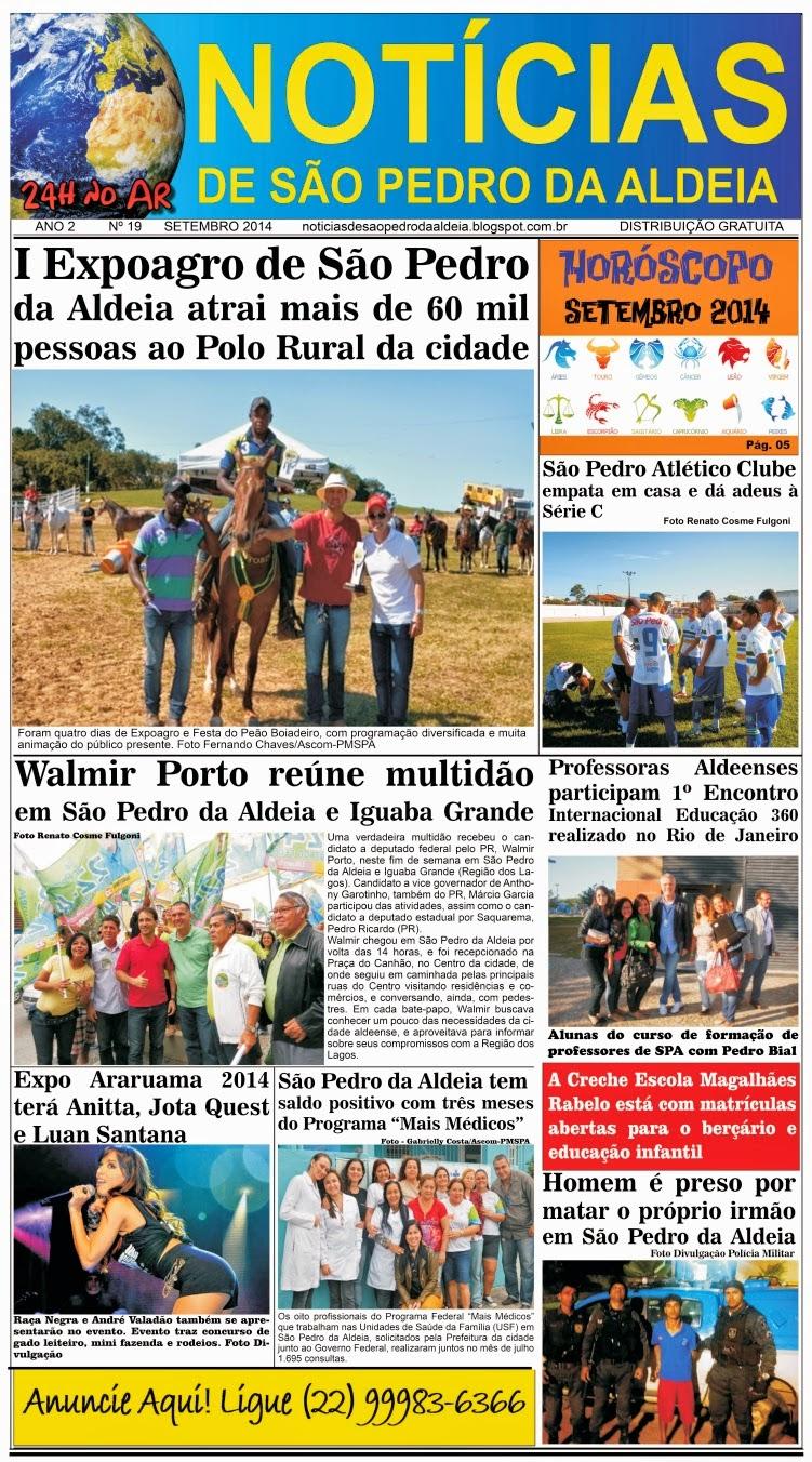 JORNAL NOTÍCIAS DE SÃO PEDRO DA ALDEIA EDIÇÃO DE SETEMBRO 2014
