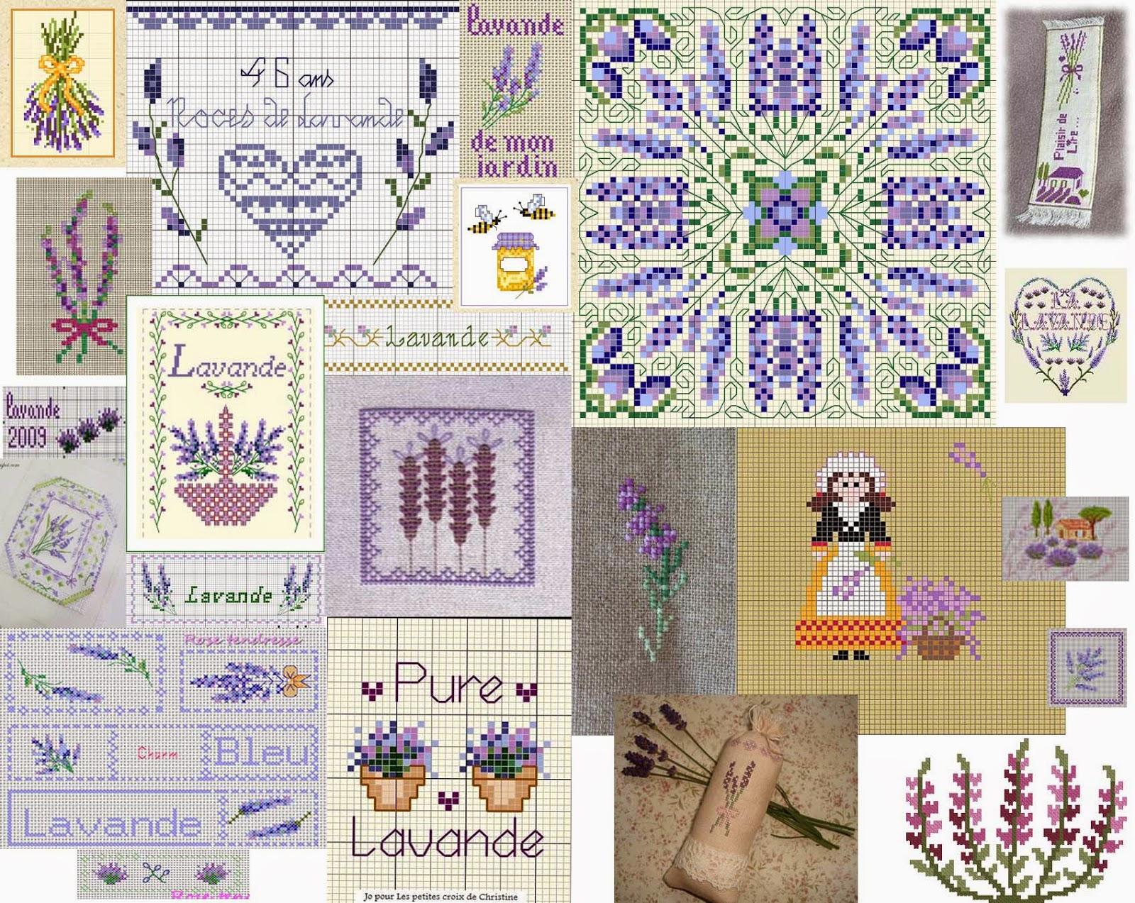 Бесплатные схемы вышивки крестом.Лаванда