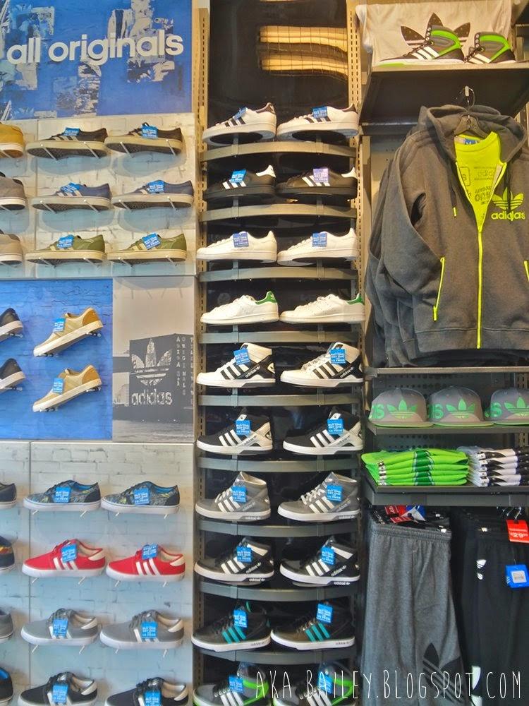 Adidas display in Footlocker