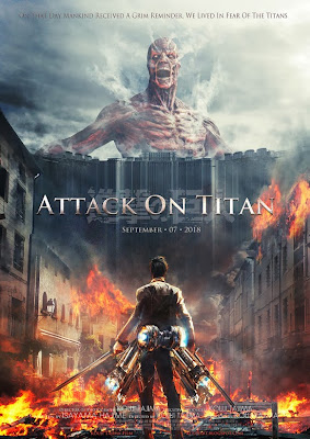 Fan made Attack on Titan live action movie poster