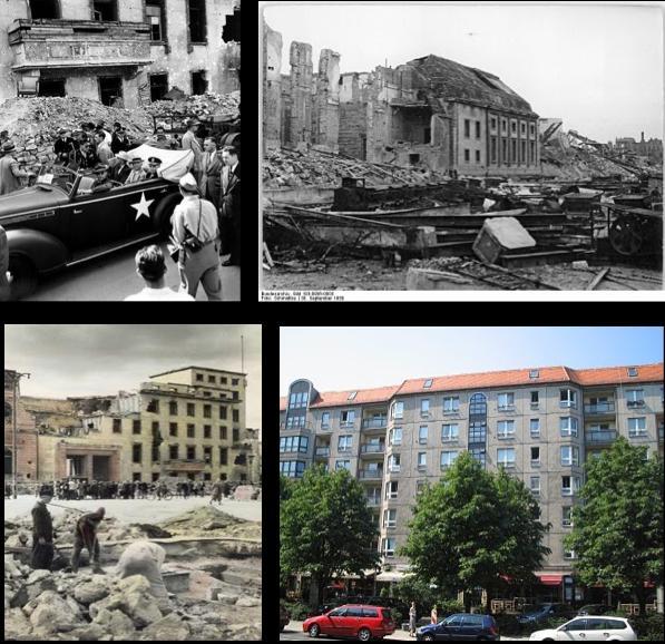 総統地下壕(そうとうちかごう、独: De-Führerbunker.ogg Führerbunker[ヘルプ/ファイル])は、ドイツのベルリンにあった総統官邸の地下壕を指す。  目次      1 概要         1.1 総統誕生日         1.2 ベルリンの孤立         1.3 最期への日々         1.4 終焉     2 総統地下壕見取り図     3 戦後     4 ギャラリー     5 脚注     6 参考書籍     7 関連項目  概要  1935年、総統アドルフ・ヒトラーは総統官邸の中庭に地下壕を設置させた。当時は主要施設に地下壕を設けるのは特別なことではなかった。戦況の悪化を受けて、1943年に防御機能を高めた地下壕が新たに建造された。二つの地下壕は階段で接続されており、約30の部屋に仕切られていた。新造部分は「Führerbunker」(総統地下壕)と呼ばれ、旧造部分は「Vorbunker」(旧地下壕)と呼ばれた。  地下壕は総統大本営としての役割を果たしており、国防軍最高司令部や陸軍総司令部・空軍総司令部といったドイツ軍中枢に関わる人物がここで勤務していた。ヒトラーが関係者以外の立ち入りを禁じたためにヒトラーの愛人のエヴァ・ブラウンら部外者は空襲時に避難する以外は地下壕に立ち入らなかった。  1945年1月16日からヒトラーはここでの生活をはじめた。ヒトラーとヨーゼフ・ゲッベルスらが総統地下壕に居住し、ゲッベルスの家族やマルティン・ボルマン等他の者は旧地下壕に居住した。ソ連軍がベルリンに迫った4月15日、疎開先のベルクホーフからベルリンに移っていたエヴァ・ブラウンは、家具を地下壕に運び入れさせ、ヒトラーの側で生活することを決めた。ヒトラーや軍需相シュペーアが避難を勧告したが、エヴァは応じなかった。  ヒトラーはベルリン市街戦末期の1945年4月30日にここで自殺した。翌日には後継首相のゲッベルスも自決し、5月2日にはソ連軍に占領された。  地下壕は攻撃に耐えられるよう厚さ4メートルものコンクリートによって造られ、深さは15メートルに達した。構造は強固で、空襲やソ連軍によるベルリン攻防戦にも耐え抜いた。  急ごしらえで建築されたため各所で水漏れが起きており、ヒトラー自身が換気を嫌ったため空調は良好ではなく、決して完璧なつくりとはいえなかった。また、当初こそヒトラーが嫌っていた喫煙は固く禁じられ利用者もそれを守っていたが、戦況が絶望的になるにつれヒトラーの姿がない所では堂々とタバコを吸うようになってゆき、末期にはヒトラーが目の前を通り過ぎてもタバコを吸うようになった。 総統誕生日  4月20日、ヒトラーは56歳の誕生日を地下壕で迎えた。ヒトラーの誕生日を祝うために空軍総司令官ヘルマン・ゲーリング、海軍総司令官カール・デーニッツ、国防軍最高司令部総長ヴィルヘルム・カイテル、外相ヨアヒム・フォン・リッベントロップといった政軍の高官が集まった。同日午前、ベルリン市内に対するソ連軍の砲撃が始まり、いよいよベルリンが戦場となることは明白であった。  ヒトラーに祝意を表明した後、ゲーリングとカイテルは国防軍最高司令部と陸軍総司令部・空軍総司令部の大部分の機能をベルリンから避難させる許可を求めた。ヒトラーは許可を与え、ゲーリングらの同行も認めた。さらに北部ドイツの軍指揮権をデーニッツに委ねた。この時点では南部ドイツの指揮権については言明せず、ナチス党官房長マルティン・ボルマンをはじめとして、ヒトラーがやがて南部に避難すると見る者も存在した。しかし翌21日未明にベルリンを離れない意志を言明し、オーバーザルツベルクに「狼はベルリンにとどまる」という電文が打電された。狼はヒトラー個人を指す暗号である(アドルフは「高貴な狼」という意味であり、またヒトラーはしばしば「狼」という意味のヴォルフという偽名を使用していたため)。しかしゲーリング、デーニッツら軍高官は決定に従い、ベルリンを離れることになった。 ベルリンの孤立  4月22日午後3時、総統地下壕で作戦会議が開かれた。しかしベルリン防衛の不活発さに激怒したヒトラーは自殺をほのめかし、その意志はボルマンを始めとする幹部にも伝えられ、壕内の人々にも伝わった。カイテルとヨードル作戦部長、ボルマンが説得したためヒトラーの精神は落ち着きを見せたが、カイテルらの避難勧告には応じなかった。同日午後8時45分、総統副官のプットカマー海軍少将・シャウブ親衛隊大将、ヒトラーの主治医モレル、女性秘書のヴォルフ (en:Johanna Wolf)、シュレーダー (en:Christa Schroeder)などの職員が地下壕から退去し、オーバーザルツベルクのヒトラー山荘