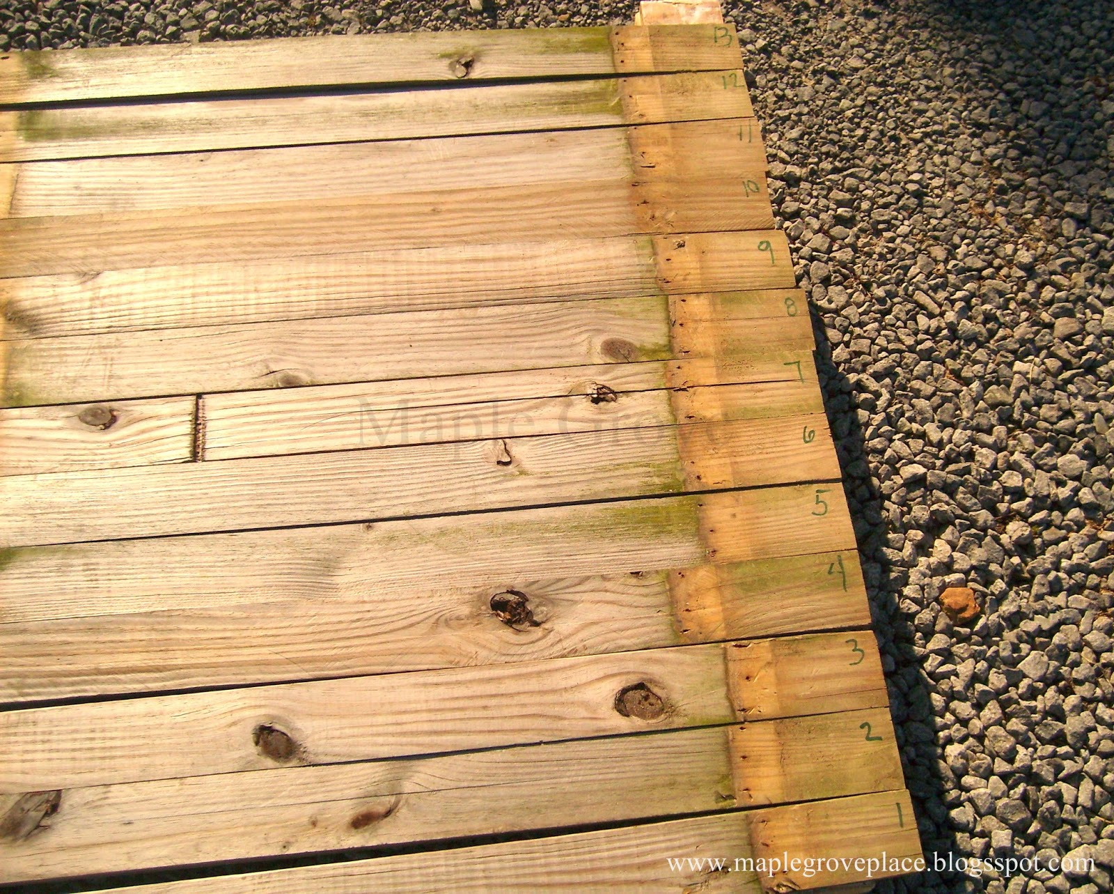 Maple Grove: How to make a picket fence American wall flag