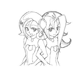 #12 Kotori Mizuki Coloring Page
