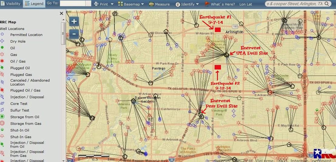 Fish Creek Monitor EnerVest Earthquakes and Arlington Fault Lines