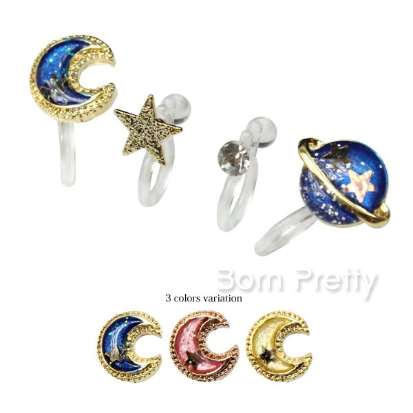 4Pcs/set Starry Sky Moon Universe Fashion Ear Cuff Set