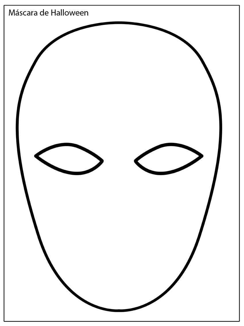 Perfecto Plantilla De Máscara Motivo - Colección De Plantillas De ...