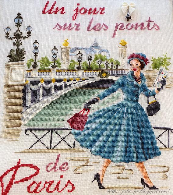 les brodeuses parisiennes, парижские вышивальщицы, атмосфера творчества, veronique enginger, один день в Париже, мост Александра III