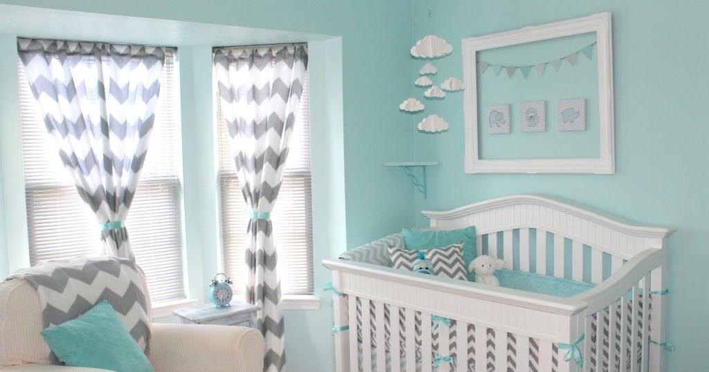 Decoraci n ideal cuarto de bebe en gris y turquesa for Decoracion en gris y turquesa