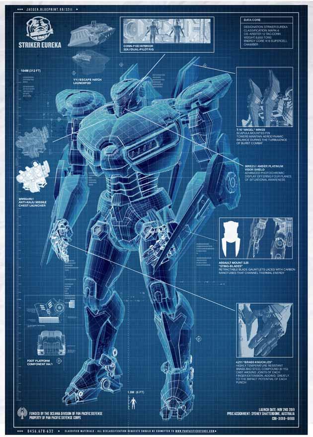 Kaiju Battle: November 2012 Pacific Rim Blueprints
