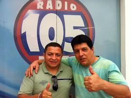 CANTOR JOSE ANTONIO E O CANTOR E RADIALISTA ADRIEL EM GUARIBA.