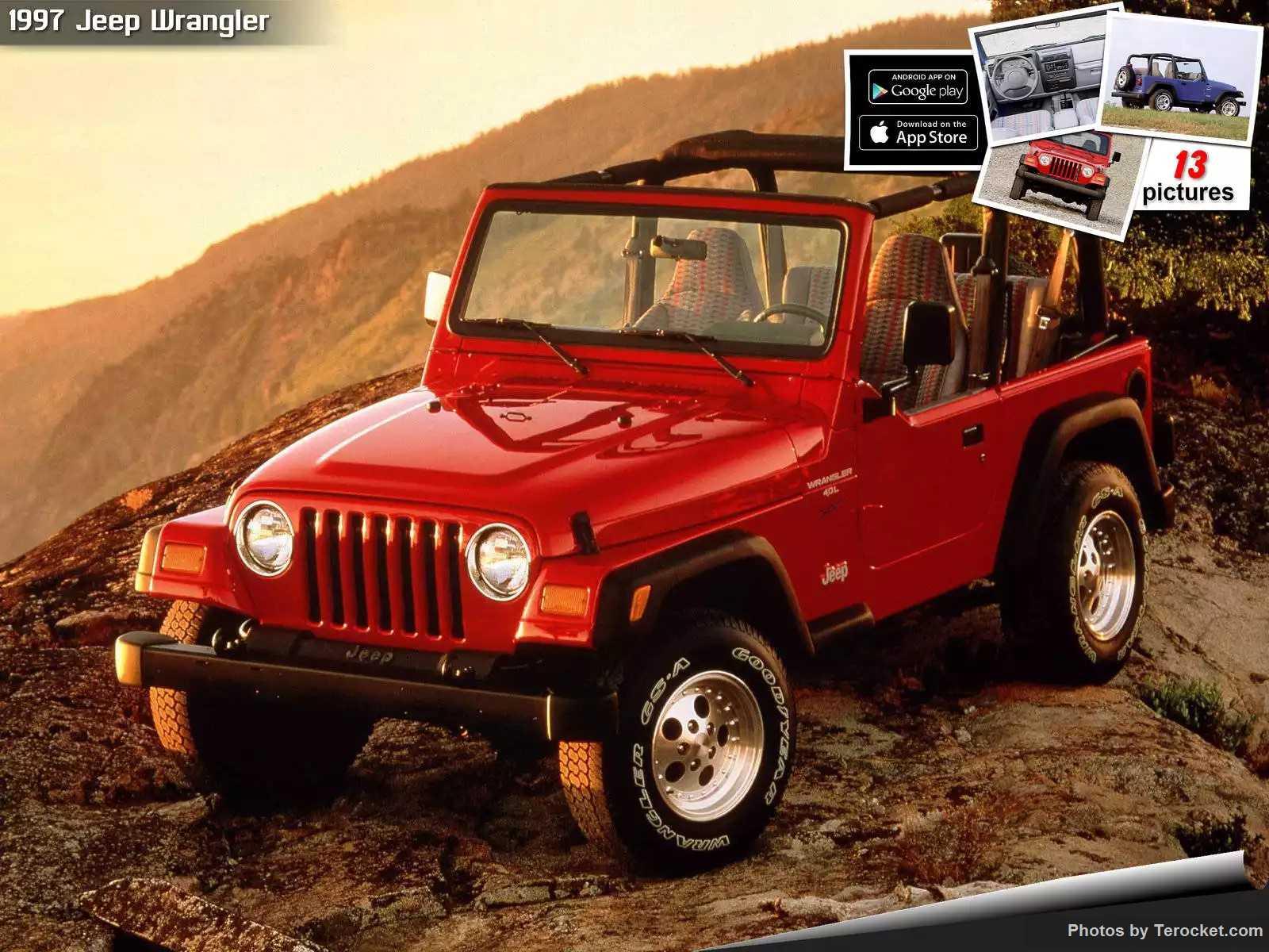 Hình ảnh xe ô tô Jeep Wrangler 1997 & nội ngoại thất