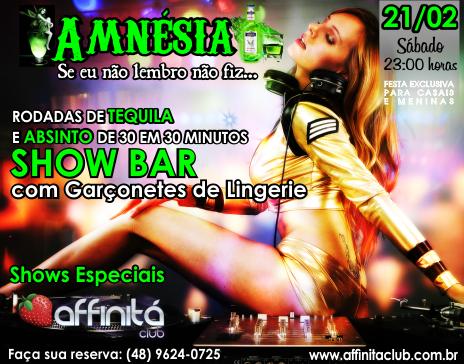 21/02 - Affinitá Club - AMNÉSIA