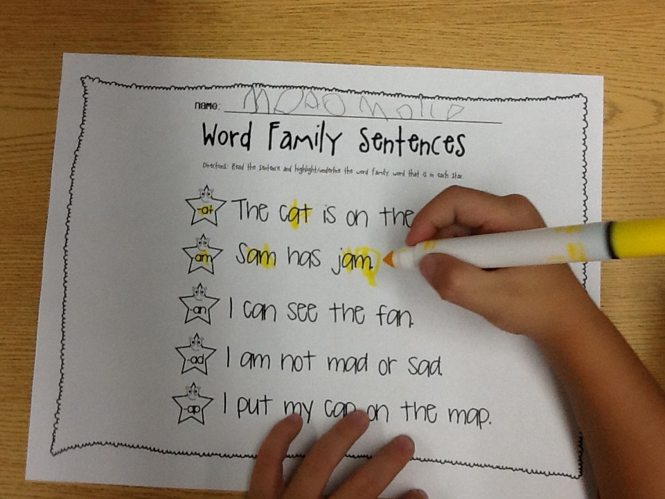 Working on Word Families (with 2 freebies)! - Learning to the Core