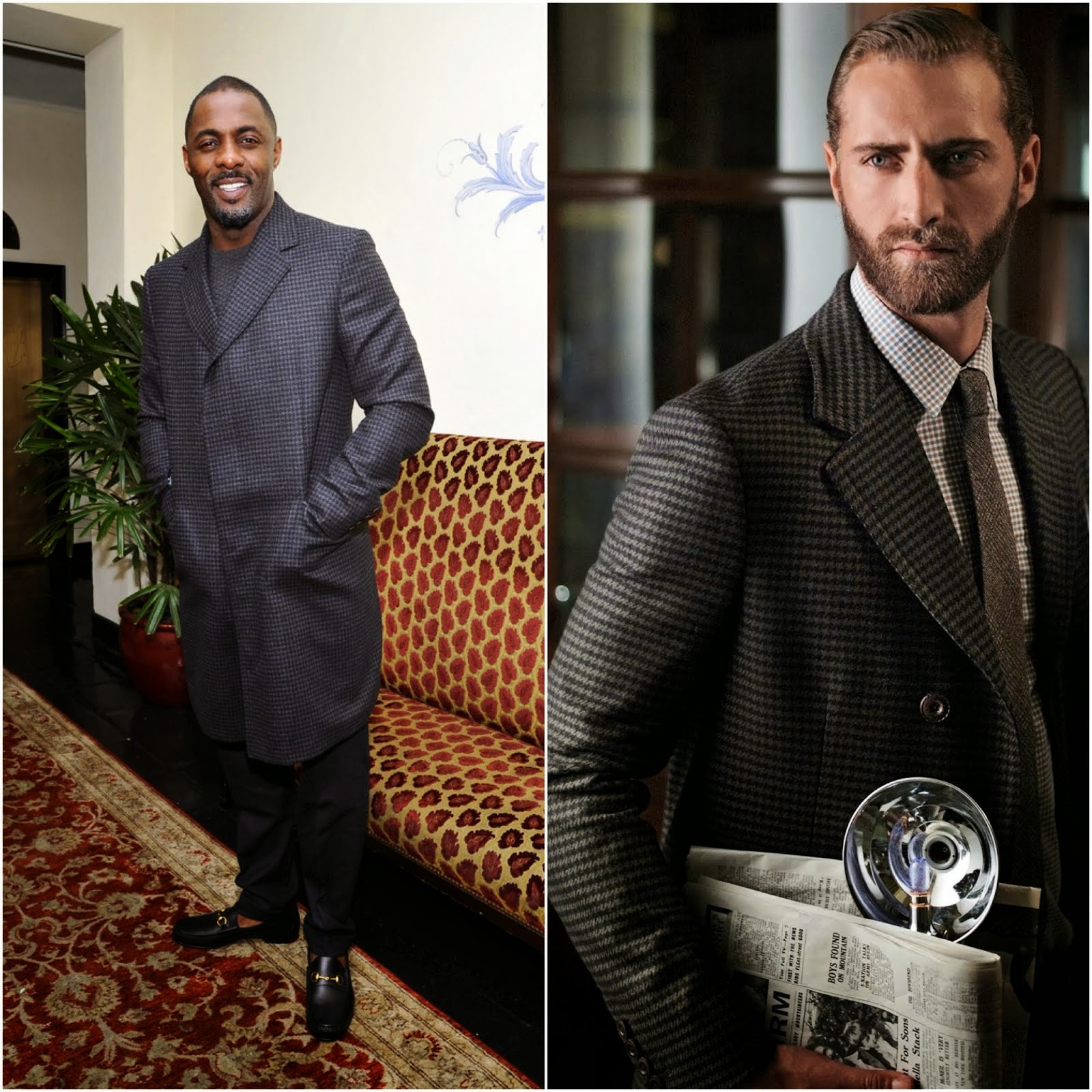 Idris Elba in Gucci - W Magazine celebration of The 'Best Performances' Portfolio and The Golden Globes with Cadillac and Dom Perignon at Chateau Marmont