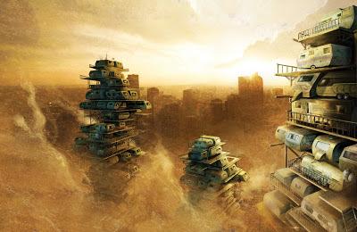 Construcciones a las afueras de las grandes ciudades según Ready Player One