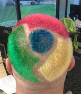 Cut hair of Google Chrome