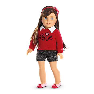 American Girl Of Year Grace Thomas 2015 Doll Pajama PJ Outfit Slipper Bow