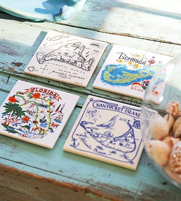 coastal travel trivets