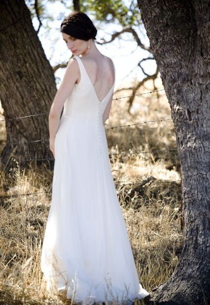 Chiffon Strapless V-neck A-line Long Maternity Wedding Dress