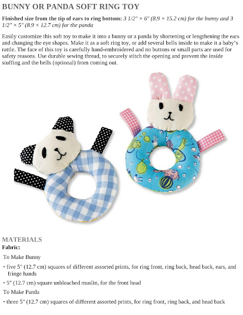 Bunny or Panda Soft Ring Toy