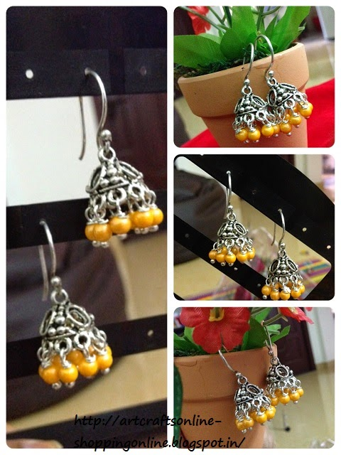 beautiful metal jhumki