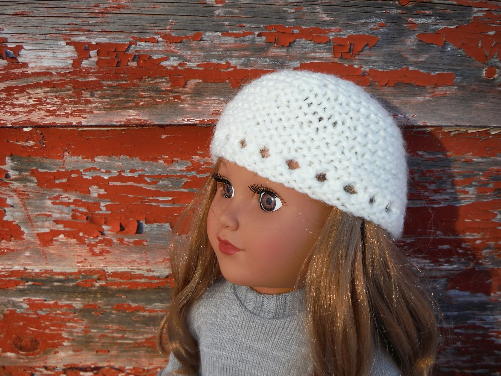 Free Knitting Pattern For Doll Hat : The Lil Hayseed Blog: Free knitting pattern: Garter Stitch Hat for 18&qu...