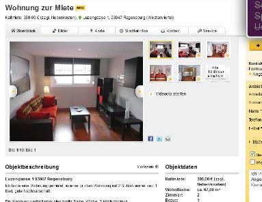 wohnung zur miete luzengasse 1 93047 regensburg westenviertel. Black Bedroom Furniture Sets. Home Design Ideas