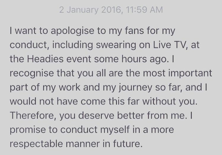 Rapper Olamide Apologizes For Screaming Profanities At The Headies, But Still Has No Love For Don Jazzy (Photos)