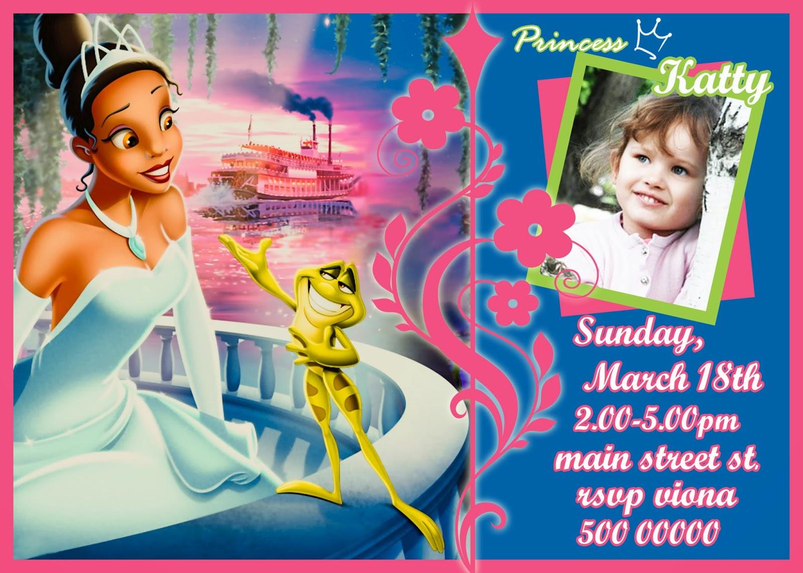 free princess invitation template