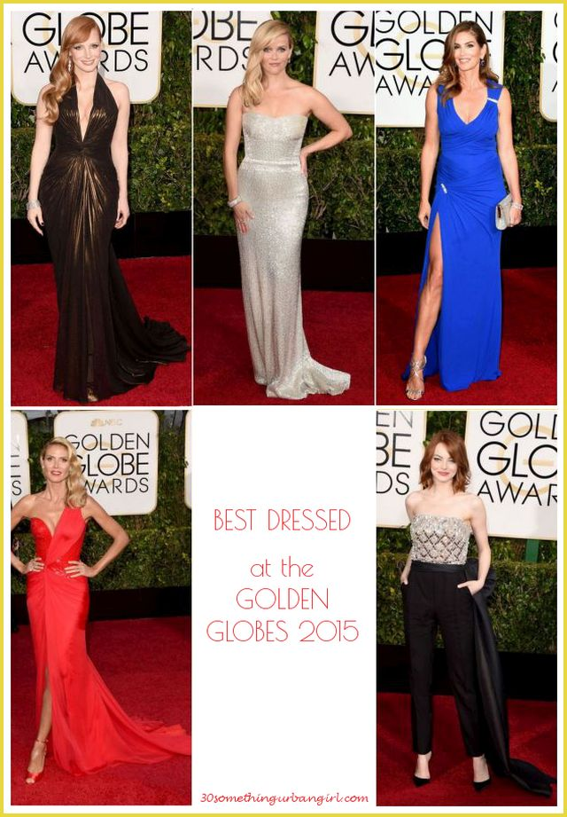 30 something urban girl's top five best dressed at the Golden Globes 2015
