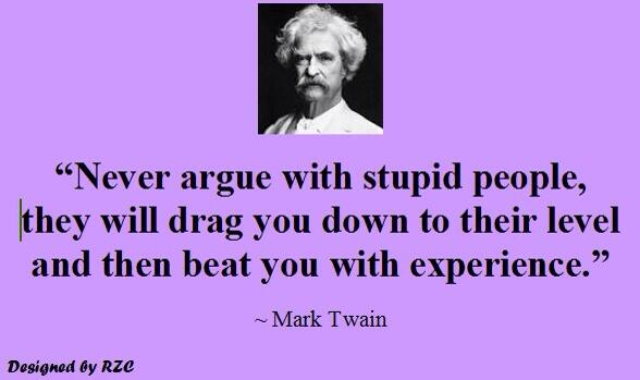 DON'T ARGUE WITH STUPID