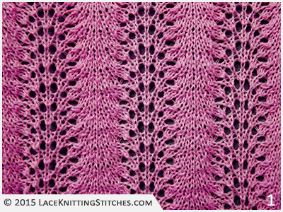 Old Shale Knitting Pattern Afghan : #9 Old Shale aka Feather and Fan Lace Knitting Stitches