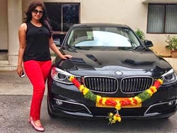 Anjali's New BMW Car
