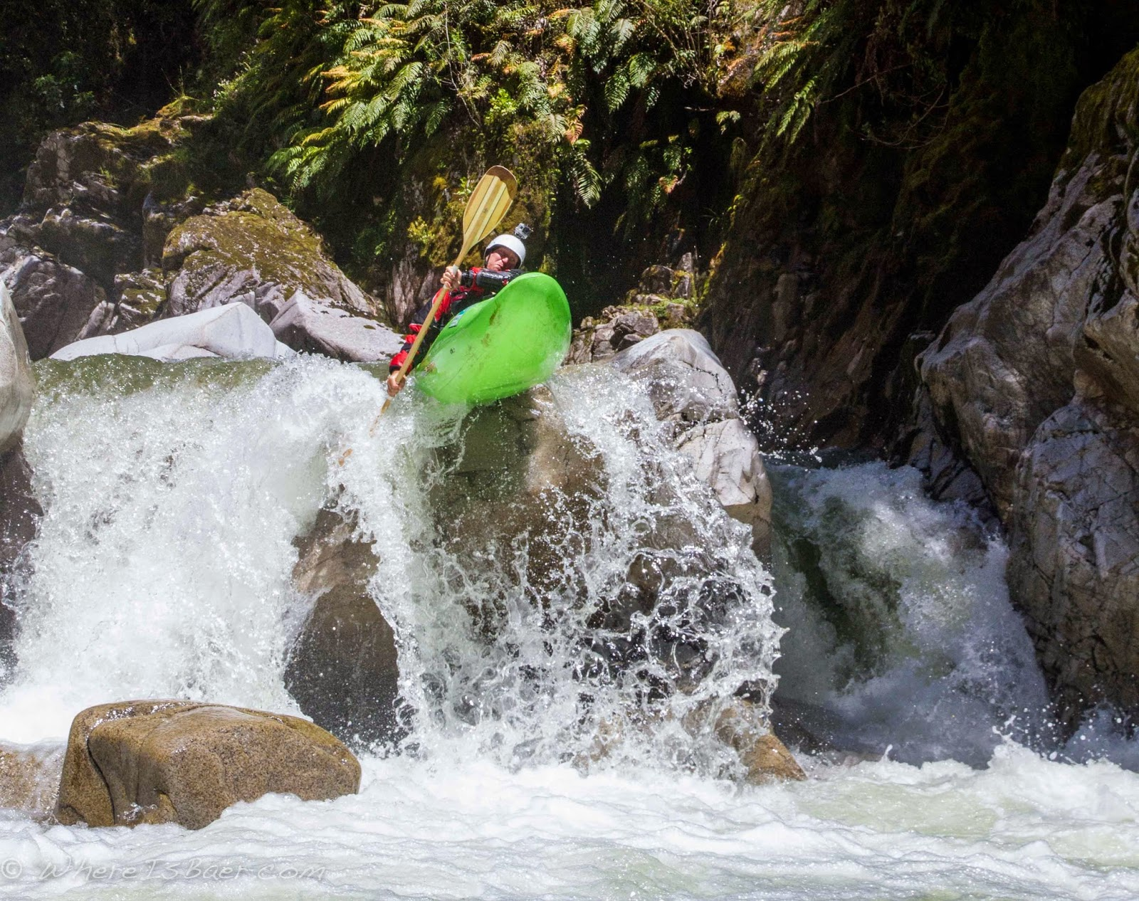 clench those cheeks the landing zone is narrow, upper kakopatahi river NZ, new zealand, chris baer