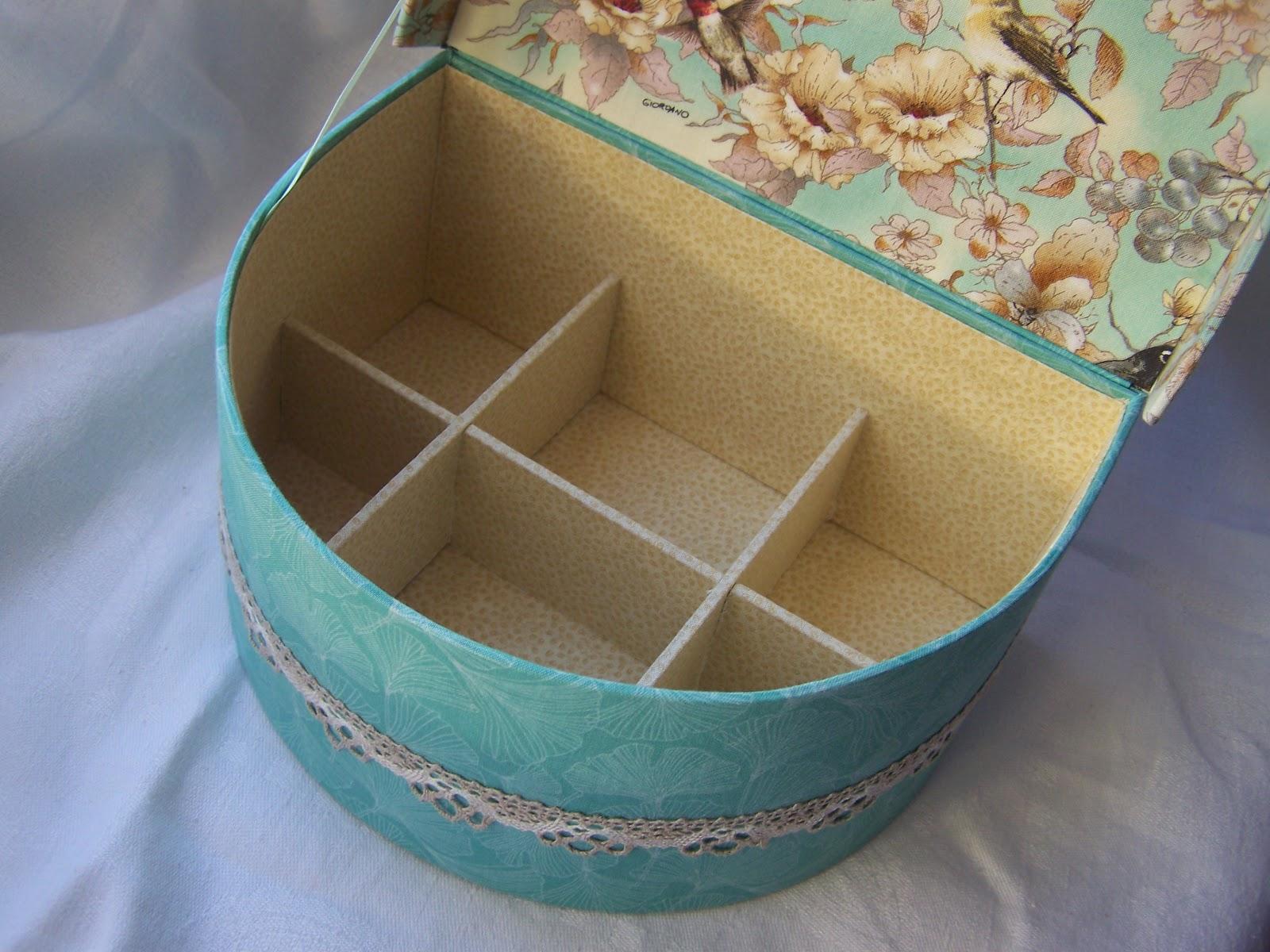 Круглые шкатулки из картона