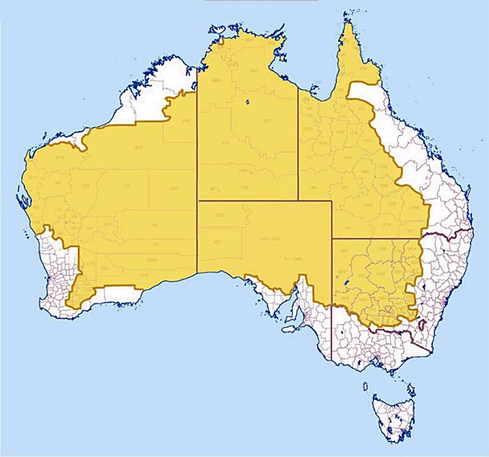 Where 2% of Australia's Population Lives