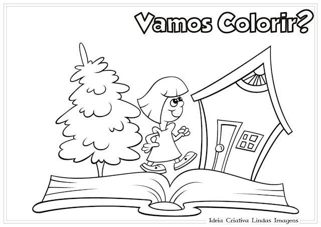 Desenho de Dia do Livro Infantil para colorir