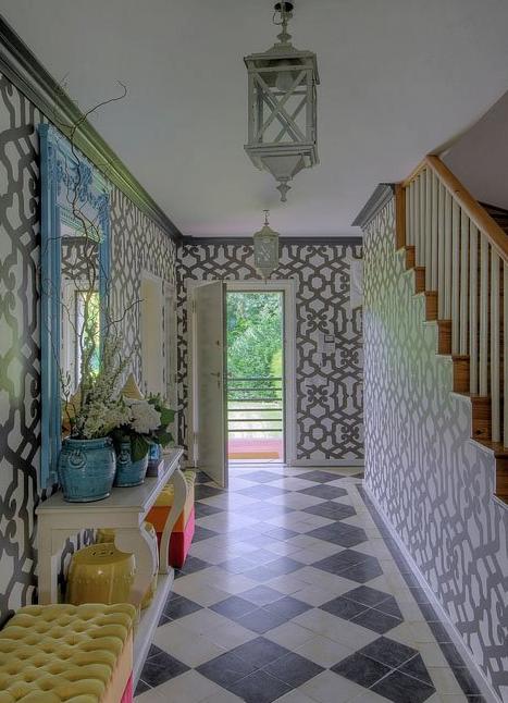 Silvia home decor maria barros interior designer portuguesa for Wallpaper for home hall