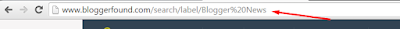 Example of Default Label Tag in Blogger