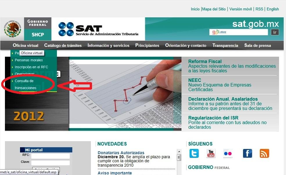 Info financiero contable y fiscal tutorial consultar e imprimir acuses de diot y listados de - Oficina virtual del ca ...