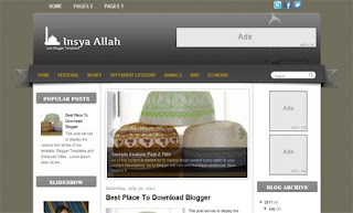 Insya Allah Blogger Template